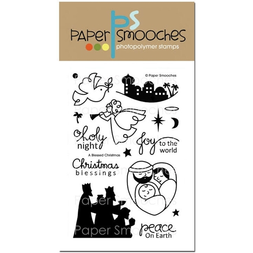 Paper Smooches A BLESSED CHRISTMAS Clear Stamps SES220 Preview Image