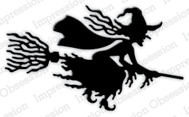Impression Obsession Steel Dies WITCH FLYING DIE229-I