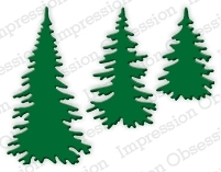 Impression Obsession Steel Dies EVERGREEN TREES DIE217-E zoom image