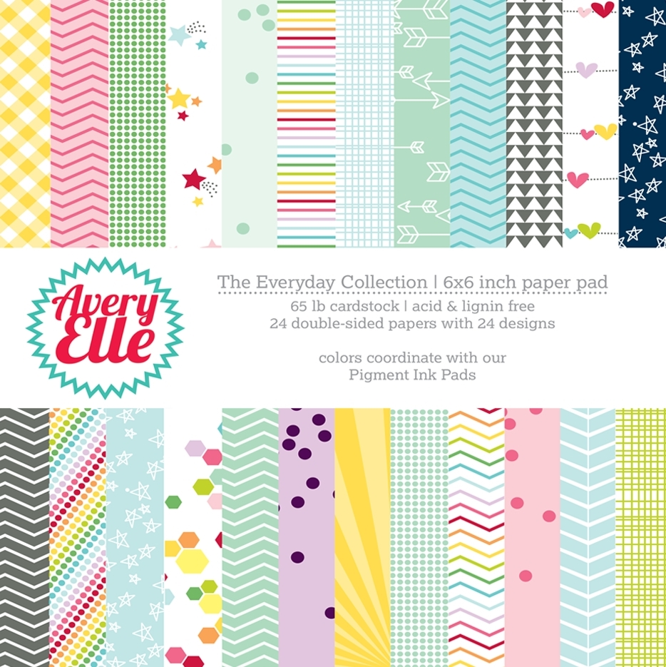 Avery Elle THE EVERYDAY COLLECTION 6x6 Paper Pad P-14-03 or 021518 zoom image