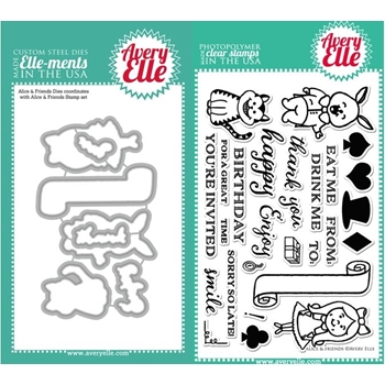 Avery Elle Clear Stamp and Die SET-14-03  Alice and Friends Set SET-14-03 *