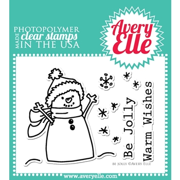Avery Elle Clear Stamps BE JOLLY Set ST-14-23 or 021754