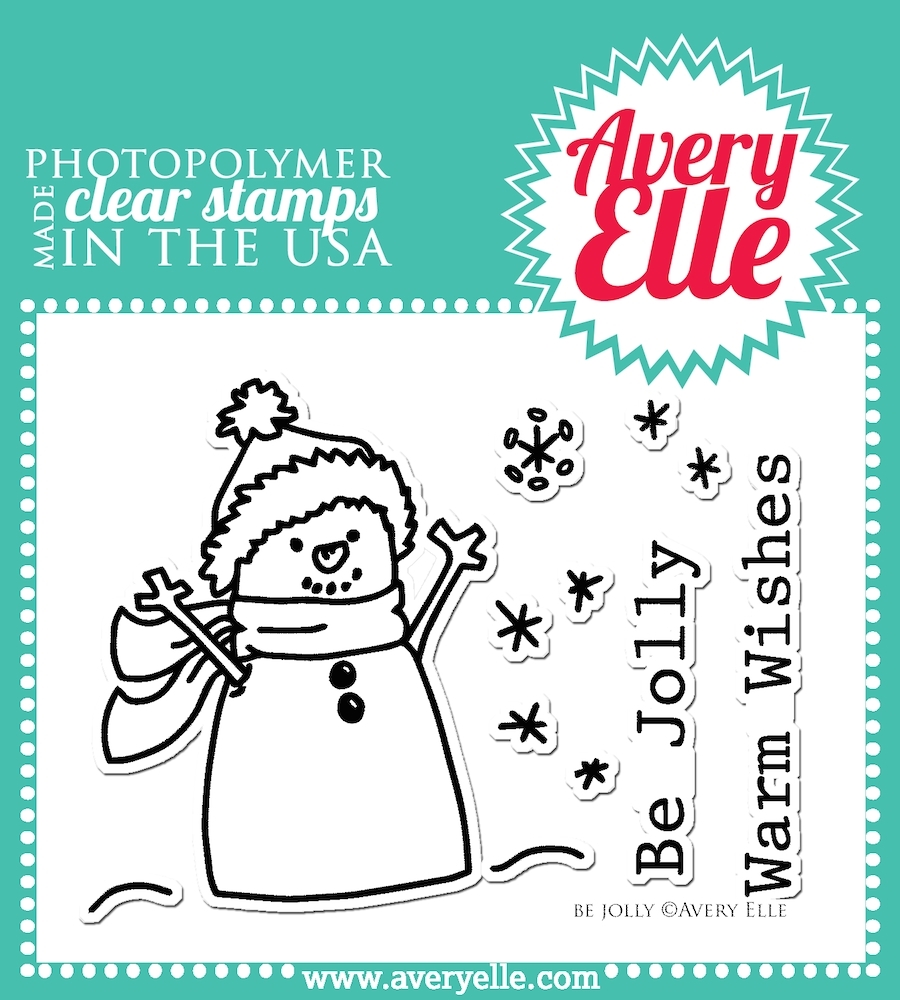 Avery Elle Clear Stamps BE JOLLY Set ST-14-23 or 021754 zoom image