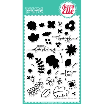 Avery Elle Clear Stamps FABULOUS FLORALS Set ST-14-25 or 021778