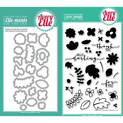 Avery Elle Clear Stamp and Die SET-14-05 FABULOUS FLORALS Set * Preview Image