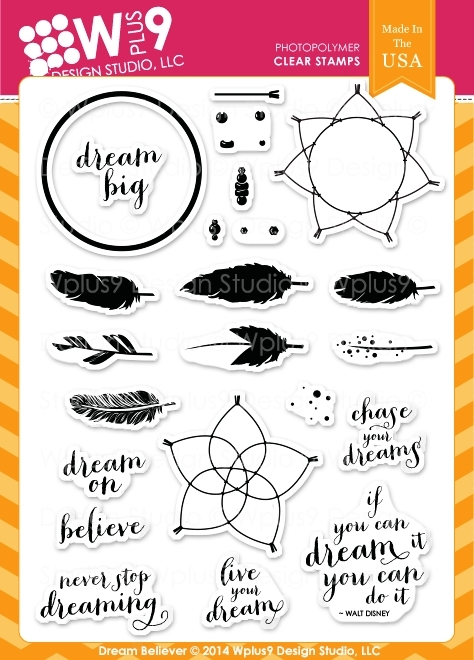 Wplus9 DREAM BELIEVER Clear Stamps CL-WP9DRBE zoom image
