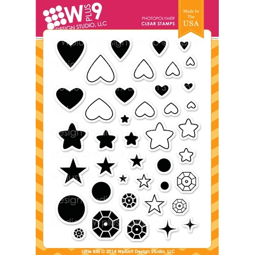 Wplus9 LITTLE BITS Clear Stamps CL-WP9LIBI Preview Image