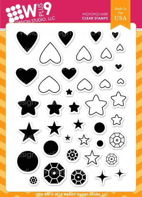 Wplus9 LITTLE BITS Clear Stamps CL-WP9LIBI zoom image