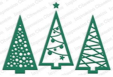 Impression Obsession Steel Dies CHRISTMAS TREE CUTOUT Set DIE240-V Preview Image