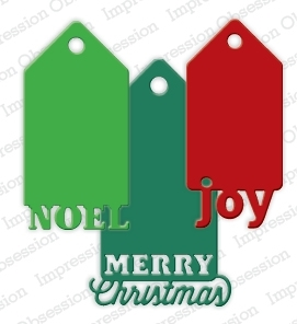 Impression Obsession Steel Dies CHRISTMAS TAGS Set DIE223-ZZ zoom image