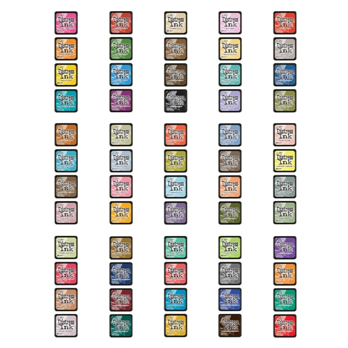 Tim Holtz MINI DISTRESS INK PADS SET 1 THROUGH 15 Ranger MINIS1TO15 Preview Image