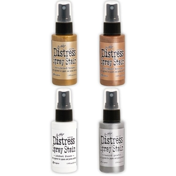 Tim Holtz DISTRESS SPRAY STAIN SET OF 4 Ranger TSSDSS04