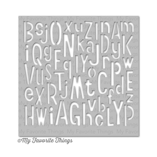 My Favorite Things JUMBLED LETTERS Mix-ables Stencil MFT 03787* Preview Image