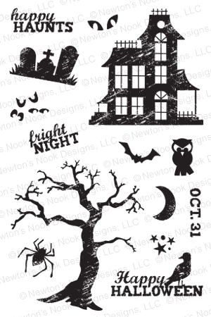 Newton's Nook Designs SPOOKY STREET Clear Stamp Set 20140903 zoom image
