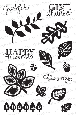 Newton's Nook Designs FALLING INTO AUTUMN Clear Stamp Set 20140902 zoom image
