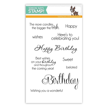 Simon Says Clear Stamps IT'S YOUR BIRTHDAY