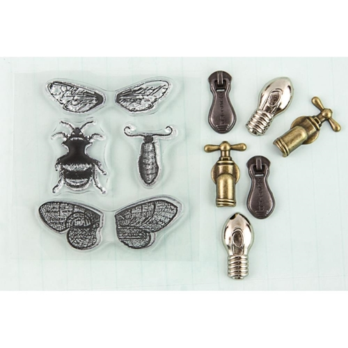 Prima Marketing MOTH WINGS Stamp-N-Add 892517 Preview Image