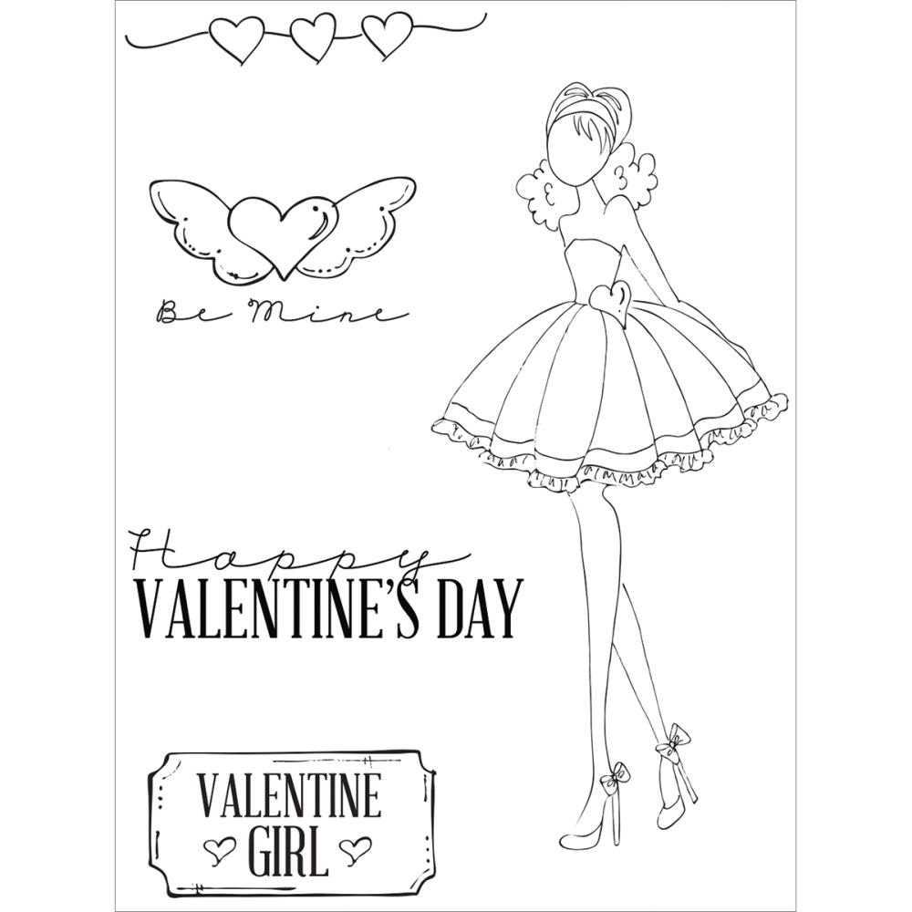Prima Marketing LOVE DAY Mixed Media Doll Cling Stamp Set 910716 zoom image