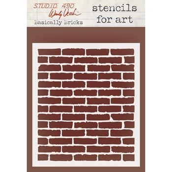 Wendy Vecchi Stencils For Art BASICALLY BRICKS WVSFA032