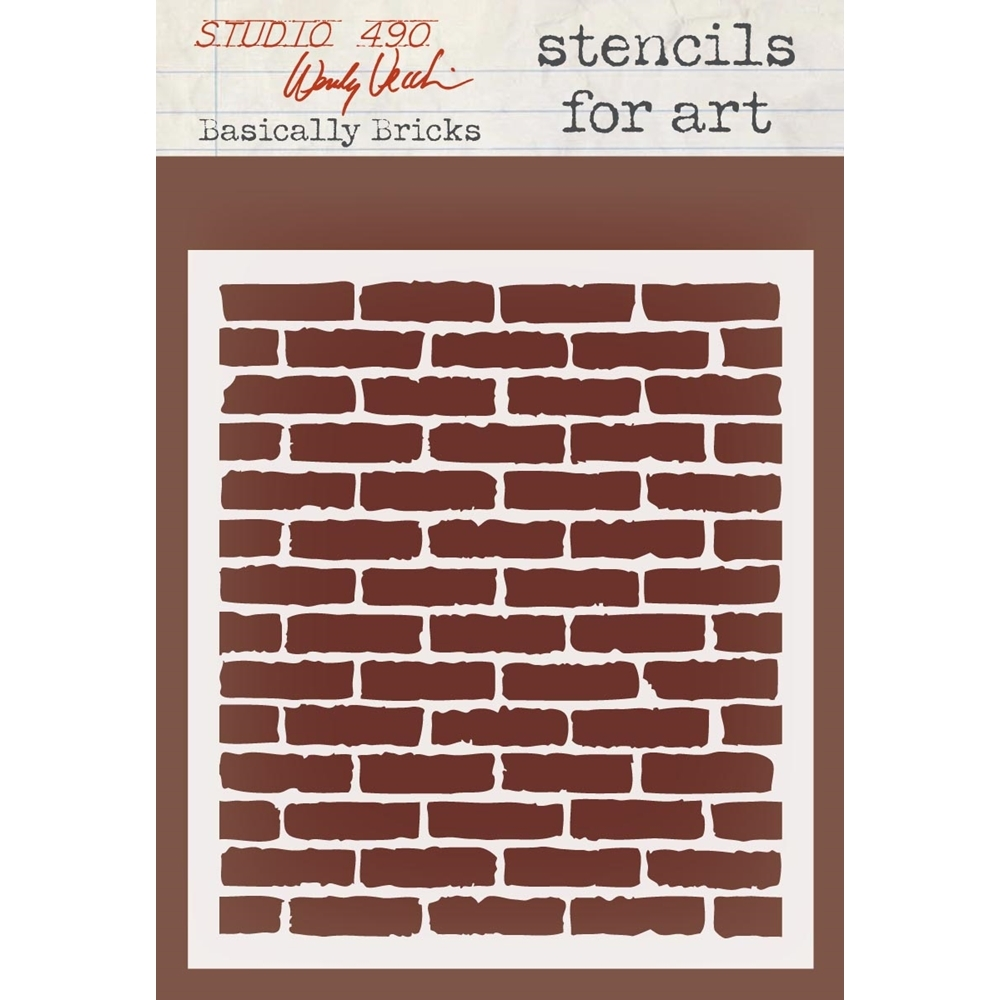 Wendy Vecchi Stencils For Art BASICALLY BRICKS WVSFA032 zoom image