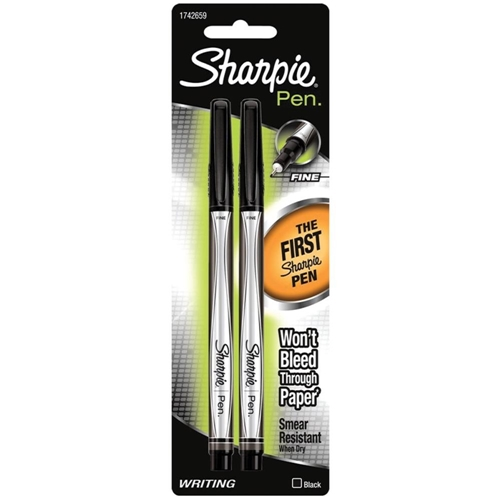 Sharpie BLACK FINE POINT Writing Pens 1742659 Preview Image