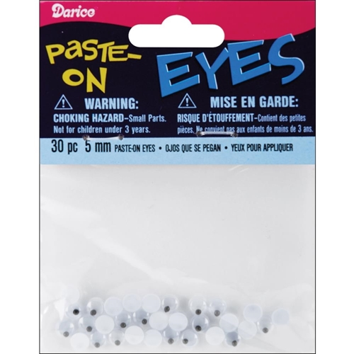 Darice 5MM PASTE-ON EYES 30 Pieces ME5 Preview Image