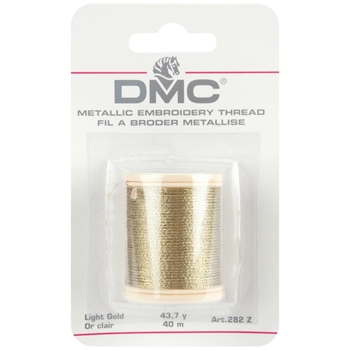 DMC Metallic LIGHT GOLD Embroidery Thread 282ZA