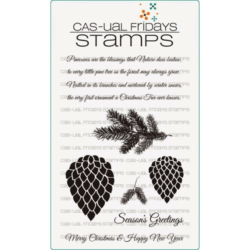 CAS-ual Fridays PINECONES Clear Stamps CFSS14011* Preview Image