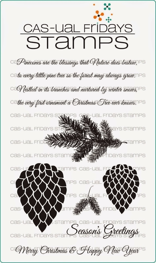 CAS-ual Fridays PINECONES Clear Stamps CFSS14011* zoom image