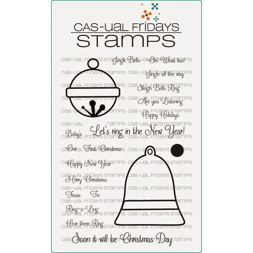 CAS-ual Fridays SLEIGH BELL Clear Stamps CFSS14012* Preview Image