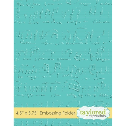 Taylored Expressions SHEET MUSIC Embossing Folder TEEF06 Preview Image