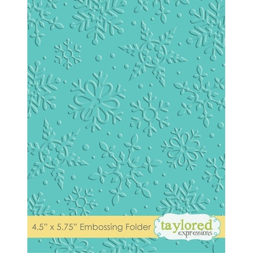 Taylored Expressions WINTER FLURRY Embossing Folder TEEF10 Preview Image