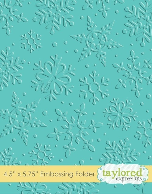 Taylored Expressions WINTER FLURRY Embossing Folder TEEF10 zoom image