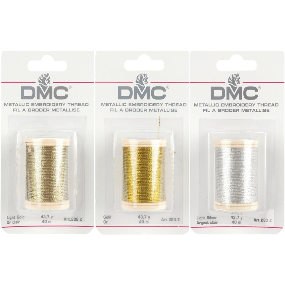DMC Metallic COMBO PACK OF 3 Embroidery Thread DMC3PACK zoom image