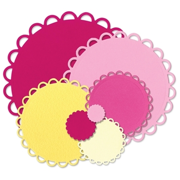 Sizzix Framelits SCALLOP CIRCLES Wafer Thin Die Set 660021