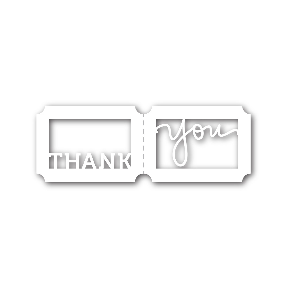Simon Says Stamp THANK YOU TICKET Wafer Dies sssd111411 Cold Hands Warm Heart zoom image