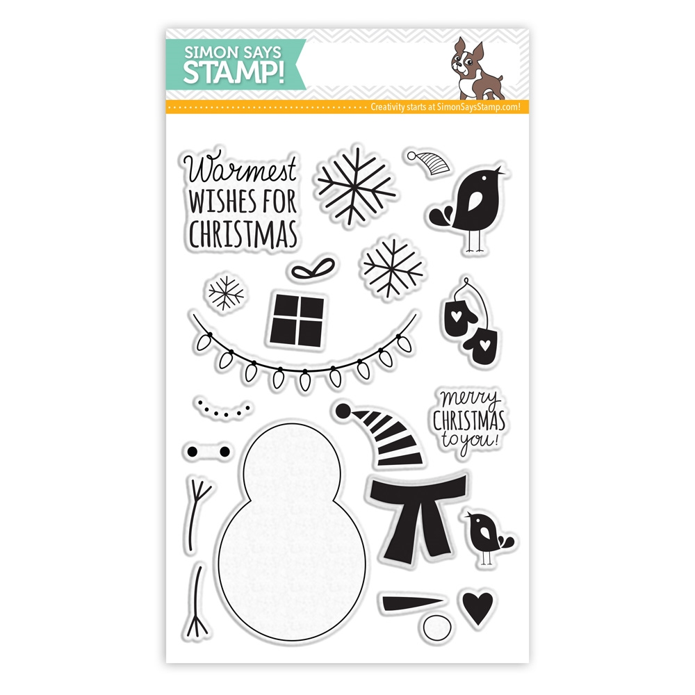 Simon Says Clear Stamps BUILD A SNOWMAN sss101460  zoom image
