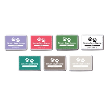 Simon Says Stamp Set of 7 Ink Pads PRECIOUS JEWELS PJ7