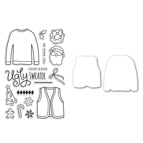 Simon Says Die and Stamps Set PARTY WITH UGLY SWEATERS SetPUS146 Preview Image