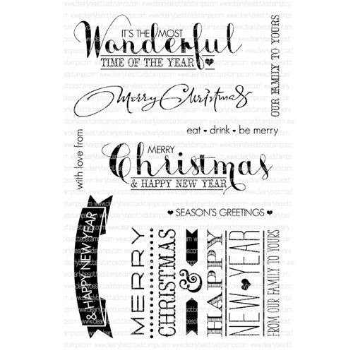 Clearly Besotted MOST WONDERFUL Clear Stamp Set  Preview Image