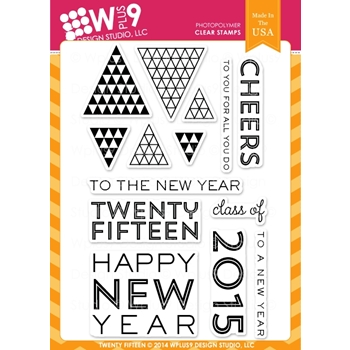Wplus9 TWENTY FIFTEEN Clear Stamps CL-WP9TF*