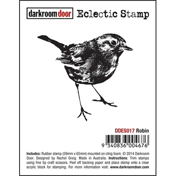 Darkroom Door Cling Stamp ROBIN Eclectic Rubber UM DDES017