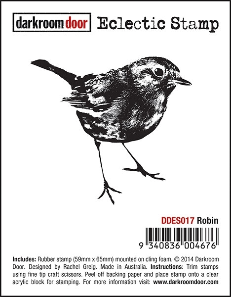 Darkroom Door Cling Stamp ROBIN Eclectic Rubber UM DDES017 zoom image