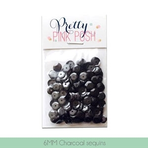Pretty Pink Posh 6MM CHARCOAL Cupped Sequins* zoom image