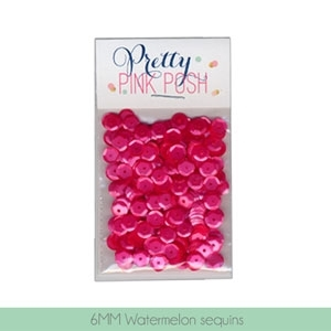 Pretty Pink Posh 6MM WATERMELON Cupped Sequins zoom image