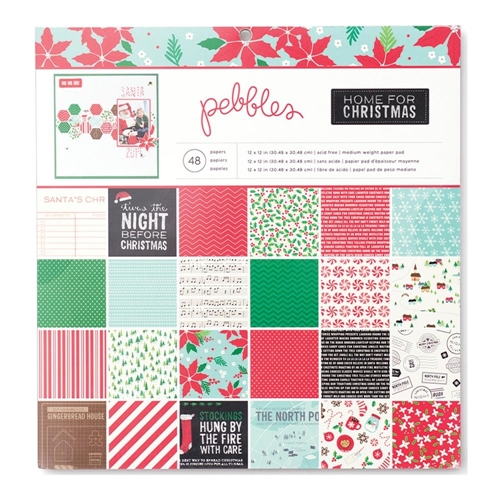 Pebbles Inc. HOME FOR CHRISTMAS 12 x 12 Paper Pad 732678 Preview Image