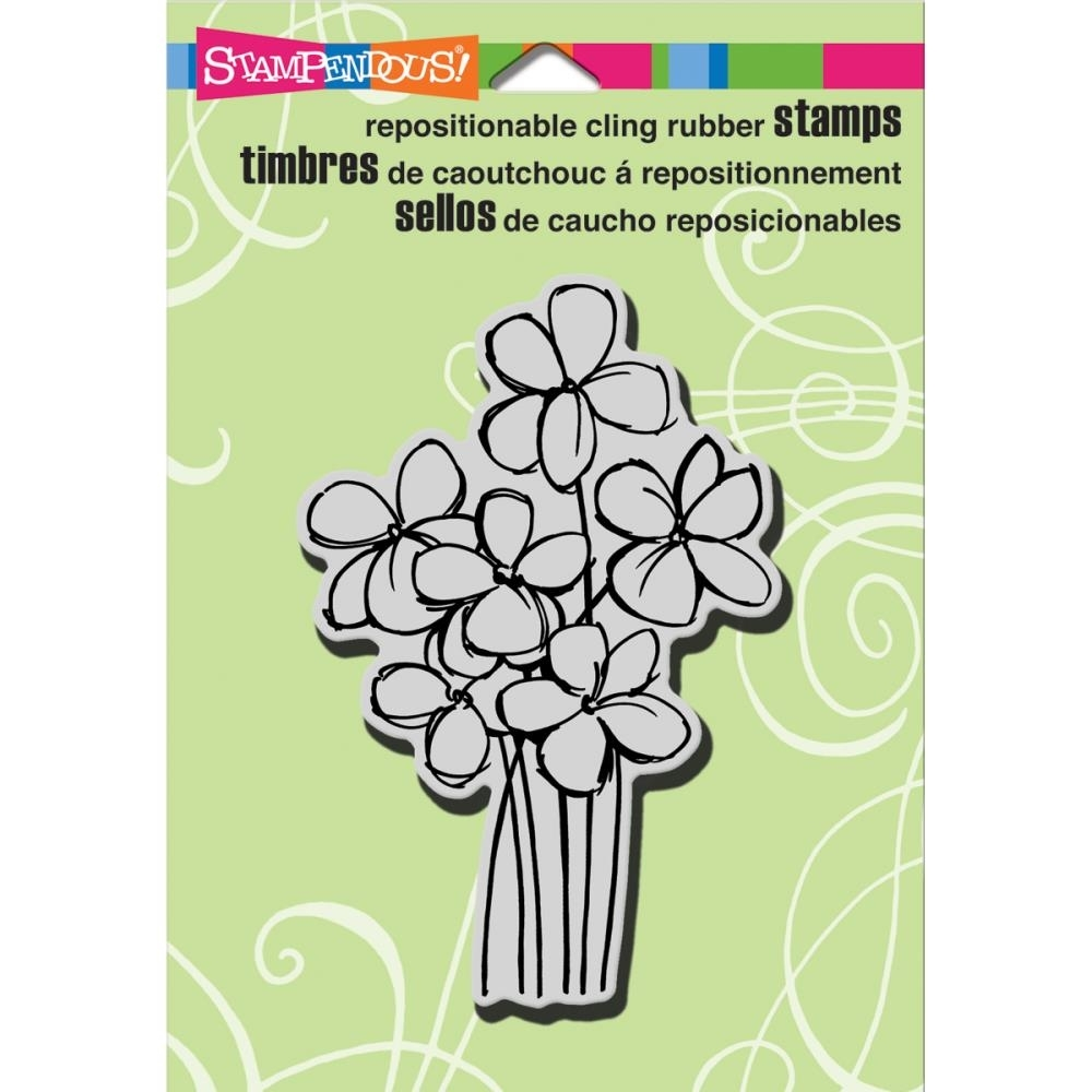 Stampendous Cling Stamp BLOSSOM BUNCH Rubber UM crp246 zoom image