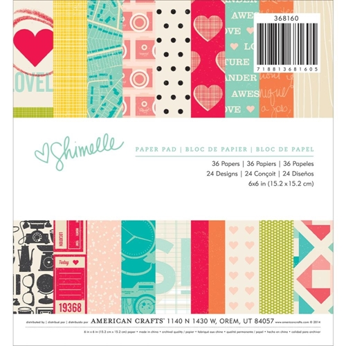 American Crafts SHIMELLE 6 x 6 Paper Pad 368160 Preview Image