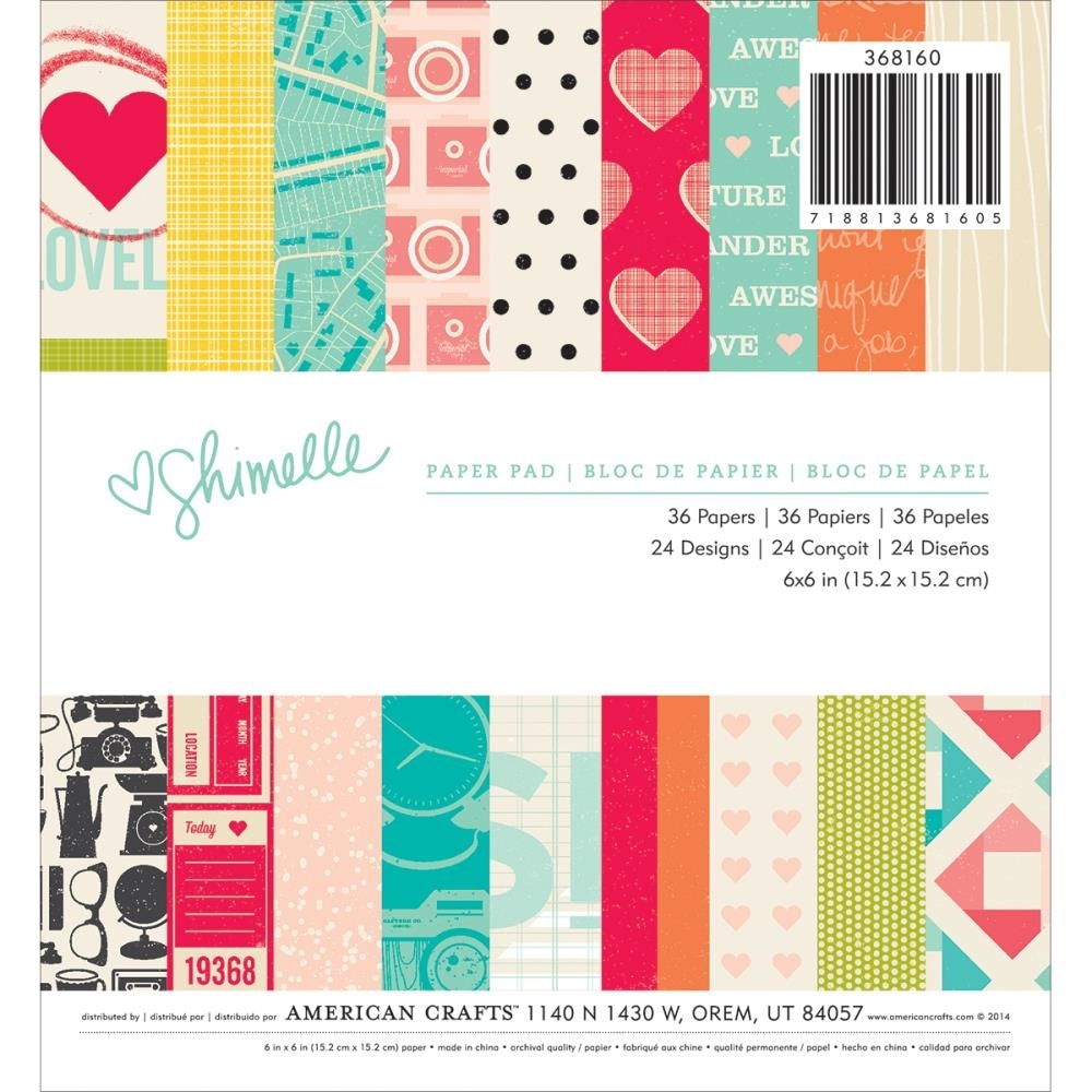 American Crafts SHIMELLE 6 x 6 Paper Pad 368160 zoom image