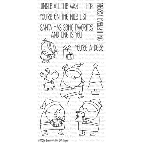 My Favorite Things JINGLE ALL THE WAY Clear Stamps MFT BB8 Preview Image